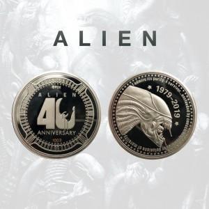 pièce de collection cinema argent alien