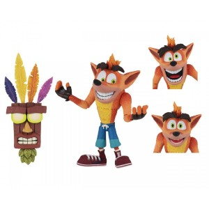 Crash Bandicoot - Figurine - Deluxe avec Masque Aku Aku - NECA