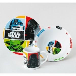 Star Wars - La guerre des étoiles - Set de Vaisselle - 3 Pièces