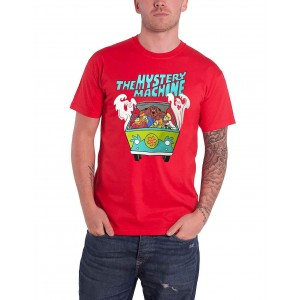 Scooby Doo - Tshirt - Groupe Mystery Machine - Rouge