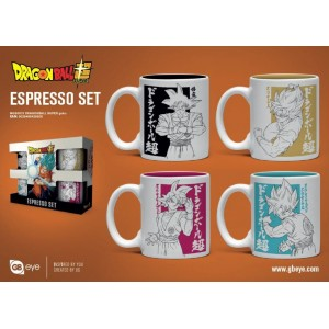 Dragon Ball Z - Set de 4 mini mugs - Son Goku