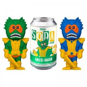 Les Maîtres de l'Univers - Figurine Vinyle dans canette de Soda - Mer-man - MOTU