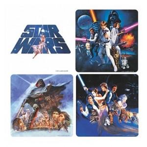 La guerre des Étoiles - Stars Wars - 4 Dessous-de-verre