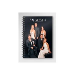 FRIENDS - Black Spiral Notebook - A5