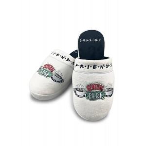 FRIENDS - Pantoufles Blanche - Logo Central Perk - Taille 38/41