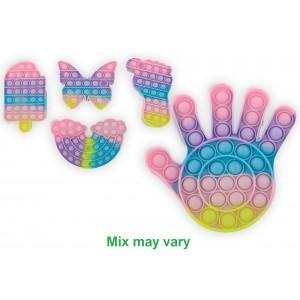 Jeu Pop it Bubble - Formes variables - Environ 14 cm - Magic Pop Push - Bulle Anti stress - Jouet Fidget Toy - Tik Tok Toy