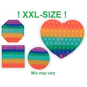 Jeu Pop it Bubble - XXL - Formes variables - Environ 20 cm - Magic Pop Push - Bulle Anti stress - Jouet Fidget Toy - Tik Tok Toy